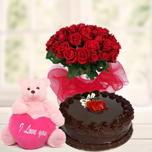 teddy,-red-roses-&-cake-combos-india