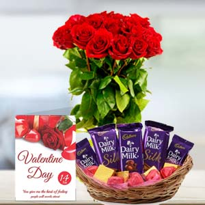 Chocolate With Roses: Anniversary flowers & chocolates Warangal,  India