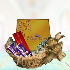 Cadbury Basket: Birthday chocolates Junagadh,  India