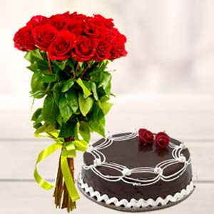 Roses And Cake: Anniversary flowers & cake Sikar (rajasthan),  India