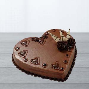 Heart Shaped Choco Cake: Birthday Sirsa,  India