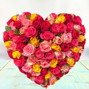 HEART SHAPED ARRANGEMENT: Rose Day Jagadhri,  India