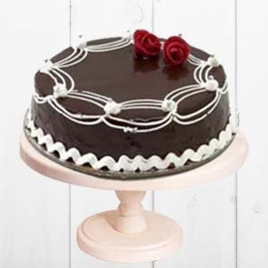 Rich Chocolate Cake: Valentine's Day Cake Hyderabad,  India