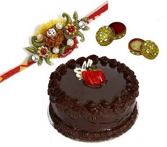 Chocolate Cake & Rakhi: Raksha bandhan New-delhi, India