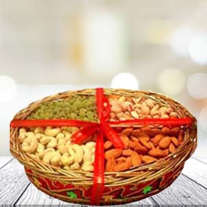 Dry Fruit Basket Small Dry Fruits Photo Cake 1kg, India