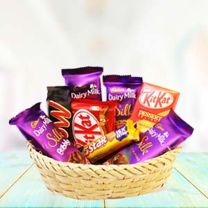 Chocolate Basket Mixed: Diwali Gifts Sangli,  India