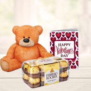 Chocolates And Teddy Combo: Birthday chocolates Dhanbad,  India