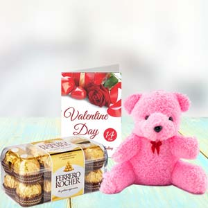 Chocolate, Teddy & Card: Karwa Chauth Gifts Bareilly,  India