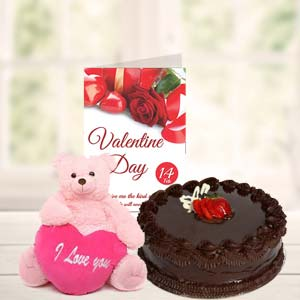 Cake Teddy & Card: Combos Bilaspur,  India