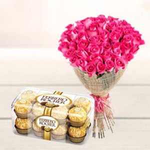 Valentine Bunch & Chocolate: Rose Day Jharsuguda,  India