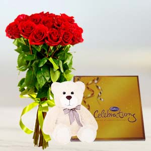 Flowers, Chocolate & Teddy: Karwa Chauth Gifts Guwahati,  India