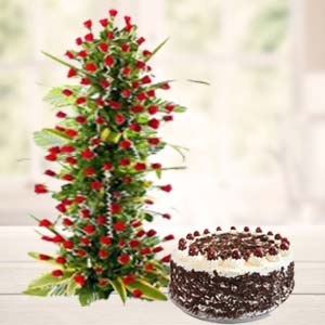 Valentine Exotic Flower Hamper: Gift Ajmer,  India