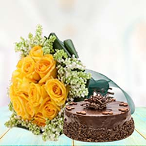 Evergreen Combo: Anniversary flowers & cake Cuttack,  India