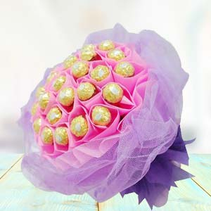 Ferrero Rocher Bouquet(24 Pieces): Miss you Nasik,  India