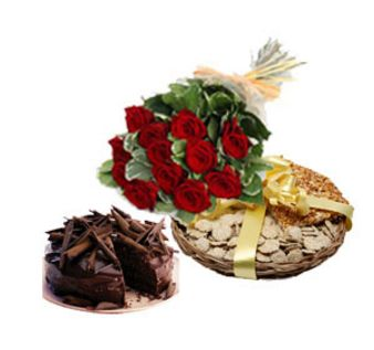 Roses Dryfruits Combo: Lohri Gifts Gurgaon,  India