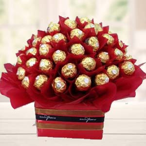 48 Ferrero Rocher Choco In Bunch: Karwa Chauth Gifts Warangal,  India