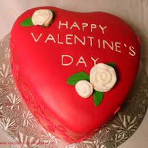 Red Velvet Heart Shaped Cake : Gift Goa,  India
