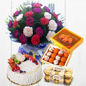 All Sweet Combo: Anniversary flowers & chocolates Nasik,  India