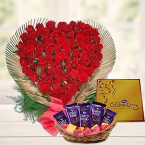 Special Love  Arrangement: Anniversary flowers & chocolates Agartala,  India