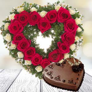 Heart Shaped Combo: Valentine's Day Gifts For Girlfriend Haldwani,  India