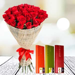 Roses & Temptations Combo: Valentine's Day Surat,  India