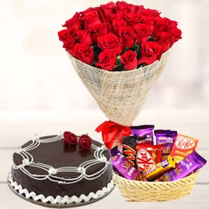 Flowers Combo With Chocolates: Birthday Kochi,  India