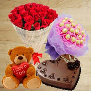 Best For Couple: Anniversary flowers & chocolates Bhopal,  India