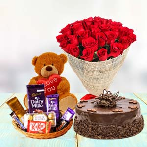 Valentine Chocolate Combo: Rose Day Guwahati,  India