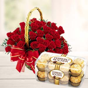 Chocolate Combo With 20 Roses: Birthday Hyderabad,  India