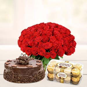 Roses Basket Combo: Rose Day Tirupati(ap),  India