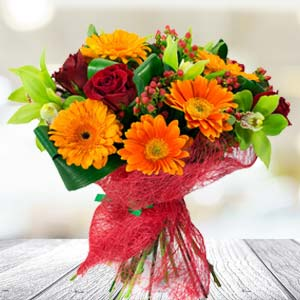 Bunch Of Mixed Flowers: Birthday gifts for her Bhopal,  India