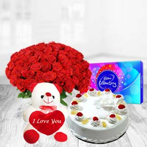 Valentine Cadbury Combos: Rose Day Jagadhri,  India