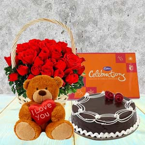 Five Valentine Gifts Combo: Rose Day Chandigarh,  India