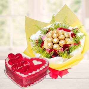 Heart Shaped Chocolate Combo: Karwa Chauth Gifts Imphal,  India