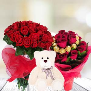 Valentine Teddy And Chocolates Combos: Rose Day Hissar,  India
