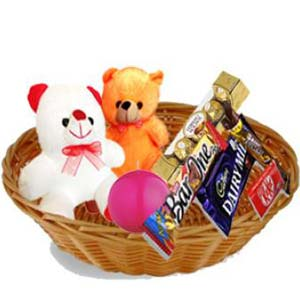 Teddy Combo Gift Hamper: Birthday Vrindavan,  India