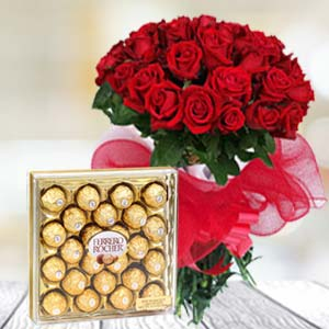 Valentine Chocolate Hamper: Valentine's Day Gifts For Girlfriend Karnal,  India