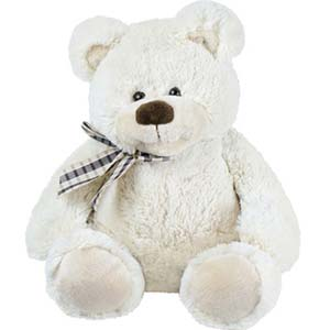 1 Feet White Teddy Bear: 1st birthday gifts Khanna,  India