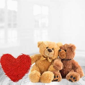 Teddy Bear With Pillow: Valentine's Day Gifts For Her Rajkot,  India