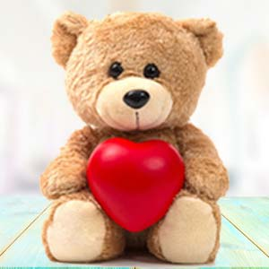 Brown Teddy With Pillow: Teddy Day Guna,  India