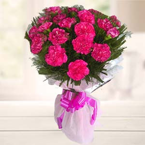 Bunch Of Carnations: Karwa Chauth Gifts Ambala,  India