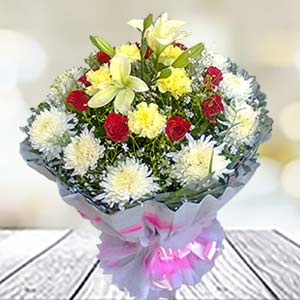 Mix Flowers Bunch: Karwa Chauth Gifts Rourkela,  India