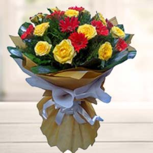 Bouquet Of Mix Flower: Birthday Sirsa,  India