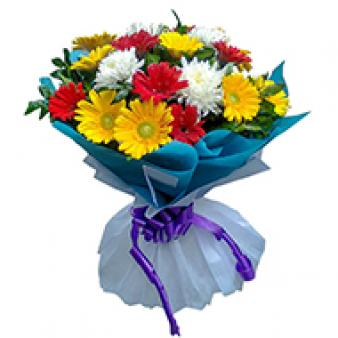 Bouquet Of Mix Gerbera: 1st birthday gifts Khanna,  India