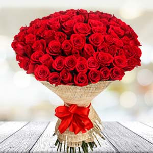 Bouquet Of 30 Red Roses: 1st birthday gifts Faridabad,  India