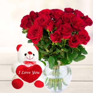 Best Teddy Combo: Valentine Gifts For Husband Jamshedpur,  India