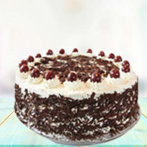 1 KG Black Forest Cake: Engagement Kanpur,  India