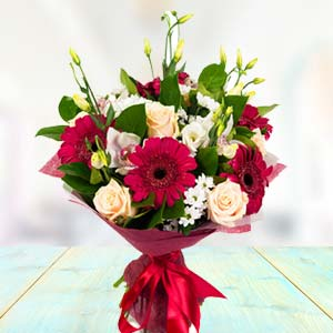 Mix Roses & Gerbera Flowers: Congratulations Bangalore,  India