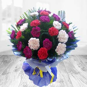 Mix Carnations: Birthday flowers Bareilly,  India