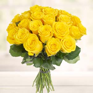 Yellow Roses Bunch: Gifts For Sister Mathura,  India